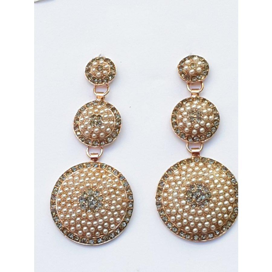 302b9d5711d2f6 Michelangelo Gioielli Orecchini tre cerchi di perle e zirconi   Olga Bijoux
