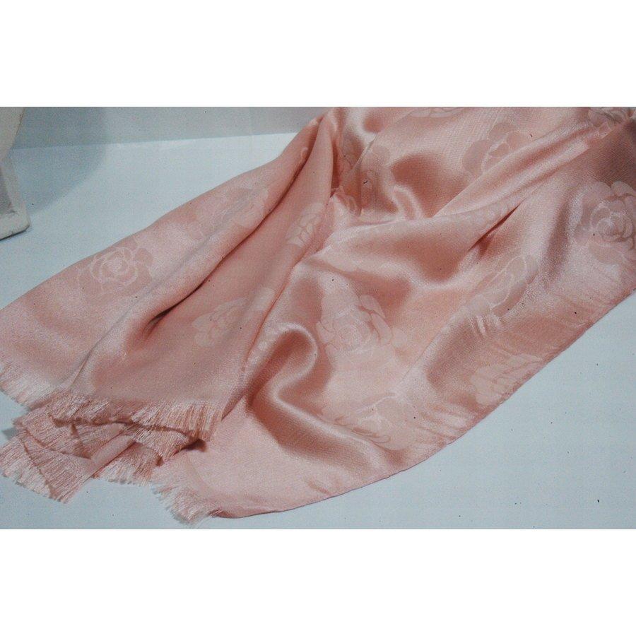 Eurobijoux sciarpa in rosa antico con rose tono su tono for Rose color rosa antico