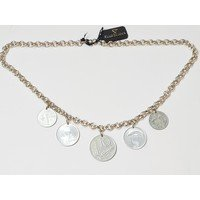 Catena girocollo con charms in minete da 1-5-10 lire